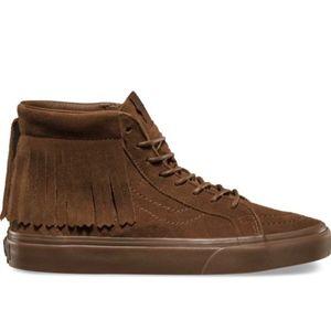 Vans Suede Sk8-Hi Moc Sneakers in Bison • Size 9